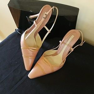 Mauve and tan Via Spiga pump
